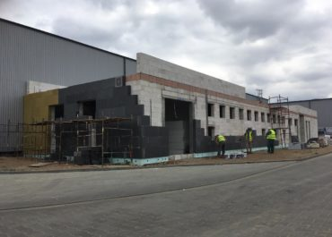 Budowa budynku biurowo-socjalnego dla firmy HS Steel w Brzeskiej Strefie Gospodarczej – Etap III
