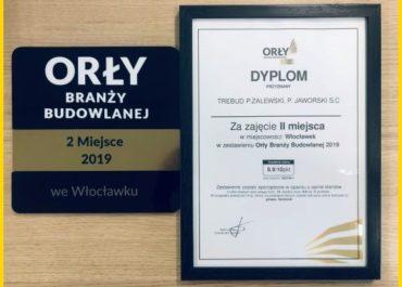 Miło nam poinformować, że zajęliśmy II miejsce w plebiscycie Orły Branży Budowlanej 2019!